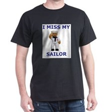 I MISS MY SAILOR Ash Grey T-Shirt