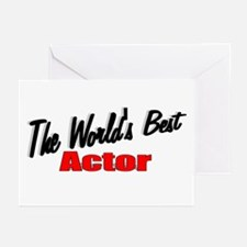"""The World's Best Actor"" Greeting Cards (Package o"