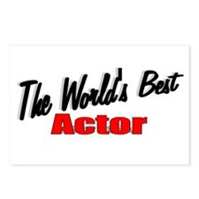 """""""The World's Best Actor"""" Postcards (Package of 8)"""
