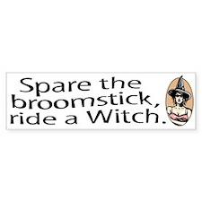 Ride a Witch halloween Bumper Bumper Sticker