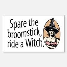 Ride a Witch halloween Rectangle Decal