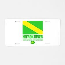 Nitrox Diver Aluminum License Plate