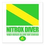 Nitrox Square Car Magnets
