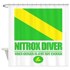 Nitrox Diver Shower Curtain