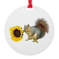Squirrel Sunflower Ornament