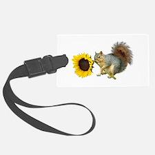 Squirrel Sunflower Luggage Tag