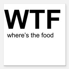 """WTFood Square Car Magnet 3"""" x 3"""""""
