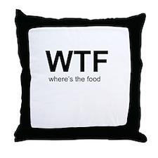 WTFood Throw Pillow