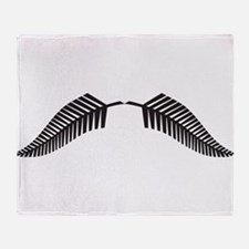 NZ Fern Leaf Throw Blanket