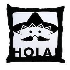 Mexican Mustache Throw Pillow