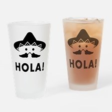Mexican Mustache Drinking Glass