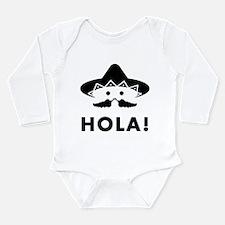 Mexican Mustache Long Sleeve Infant Bodysuit