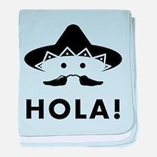 Mexican Mustache baby blanket