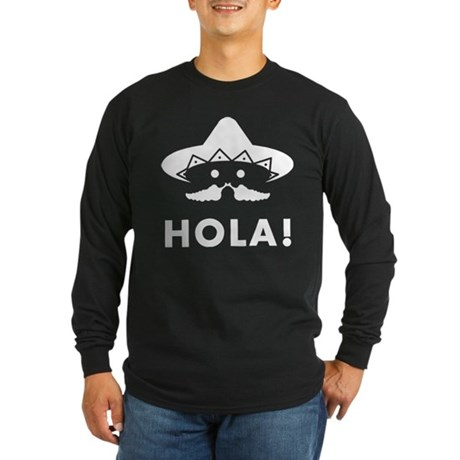 Mexican Mustache Long Sleeve Dark T-Shirt