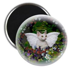 Sweet Devon Angel Round Magnet