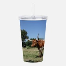 Texas Longhorn Cow Acrylic Double-wall Tumbler