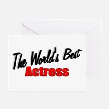 """The World's Best Actress"" Greeting Cards (Package"