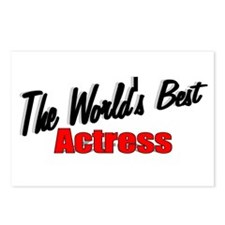 """""""The World's Best Actress"""" Postcards (Package of 8"""