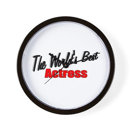 """The World's Best Actress"" Wall Clock"