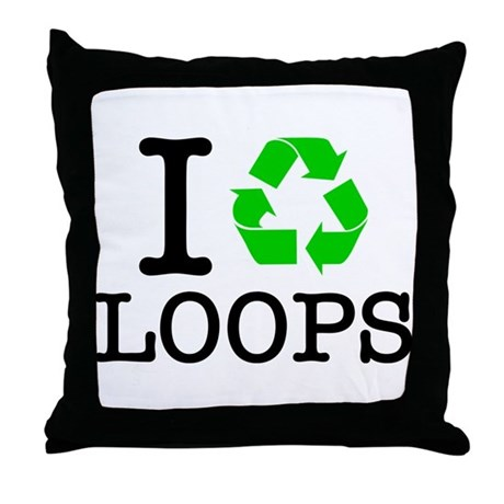 Recycle Or Throw Away Pillows : I Recycle Loops Throw Pillow by forgottentongues
