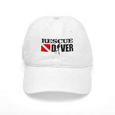 Rescue Diver 3 (blk) Baseball Baseball Cap