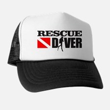 Rescue Diver 3 (blk) Trucker Hat