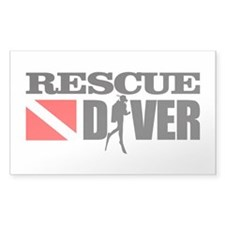 Rescue Diver 3 (blk) Decal