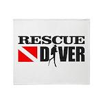 Rescue Diver 3 (blk) Throw Blanket
