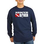 Rescue Diver 3 (blk) Long Sleeve T-Shirt