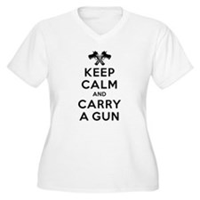 Keep Calm and Carry a Gun Plus Size T-Shirt