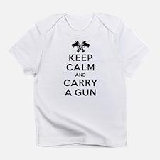 Keep Calm and Carry a Gun Infant T-Shirt