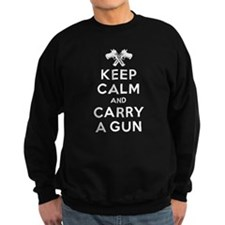 Keep Calm and Carry a Gun Sweatshirt