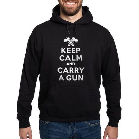 Keep Calm and Carry a Gun Hoodie
