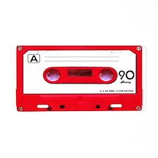 Red Cassette Tape Aluminum License Plate