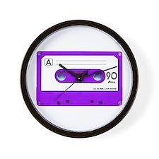 Purple Cassette Tape Wall Clock