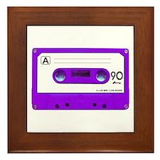 Purple Cassette Tape Framed Tile