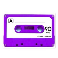 Purple Cassette Tape Postcards (Package of 8)
