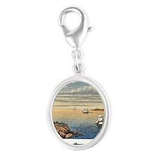 e sea - Silver Oval Charm