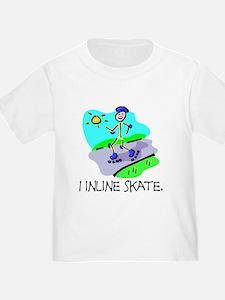 I inline skate T