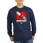 Salvage Diver 2 (back)(black) Long Sleeve T-Shirt
