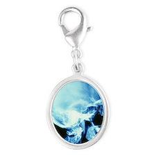 Skull X-ray - Silver Oval Charm