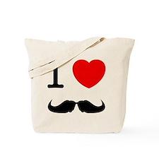 I Heart Mustache Tote Bag