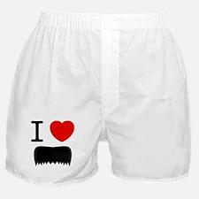 I Heart Mustache Boxer Shorts