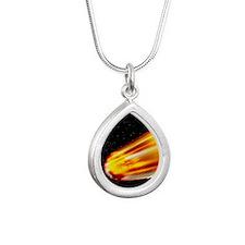 Meteor - Silver Teardrop Necklace
