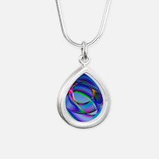 Torus - Silver Teardrop Necklace