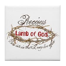 Lamb of God Tile Coaster