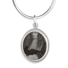 Sir Isaac Newton - Silver Oval Necklace