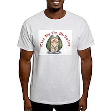 Kiss me I'm Bi-Valve Ash Grey T-Shirt