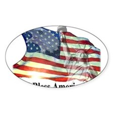 God Bless America! Rectangle Decal
