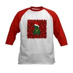 Christmas Bear Kids Baseball Jersey